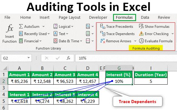 قابلیت ارزیابی فرمول یا Formula Audtiting اکسل در حسابداری