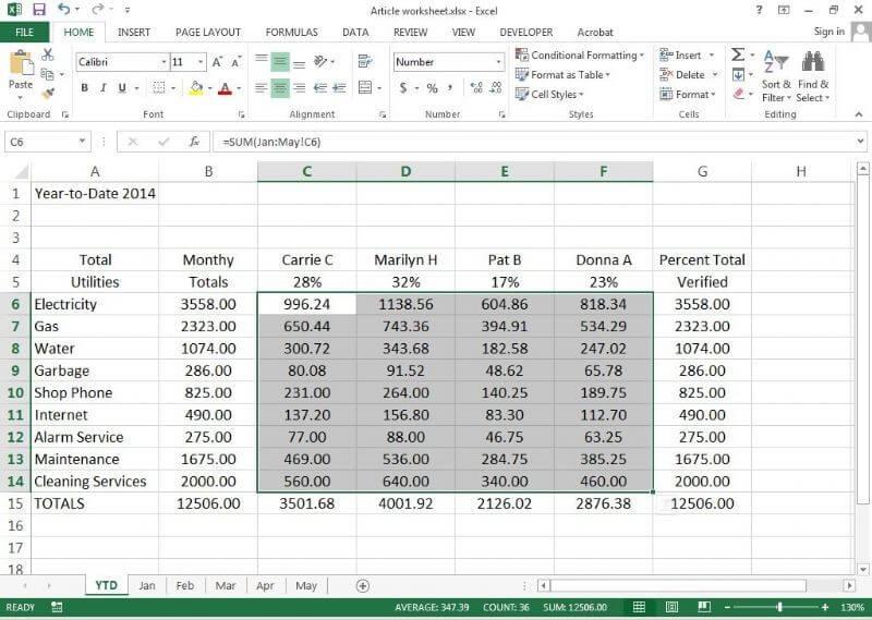 دستکاری دادهها در جداول محوری (PivotTables)