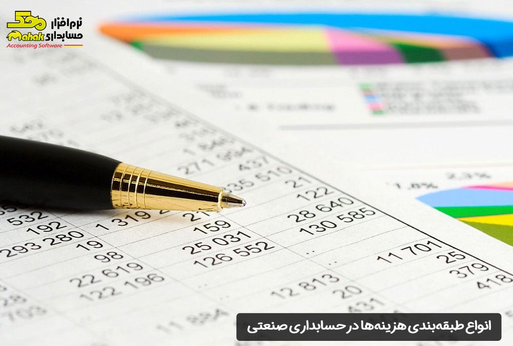 انواع طبقهبندی هزینهها در حسابداری صنعتی
