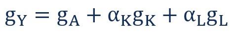 معادله حسابداری رشد را به شکل دیگری نیز میتوان نوشت: