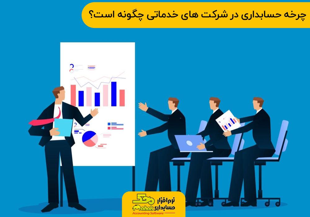 چرخه حسابداری در شرکت های خدماتی چگونه است؟