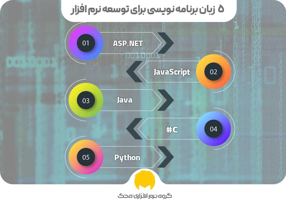 زبان برنامه نویسی برای توسعه نرم افزار